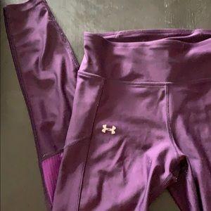 Underarmour leggings, purple, size medium